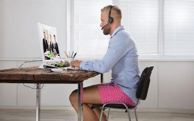 Home-Office Tag im Schlafanzug